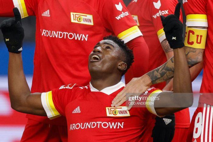 Taiwo Awoniyi scores in Union Berlin's win over Dortmund