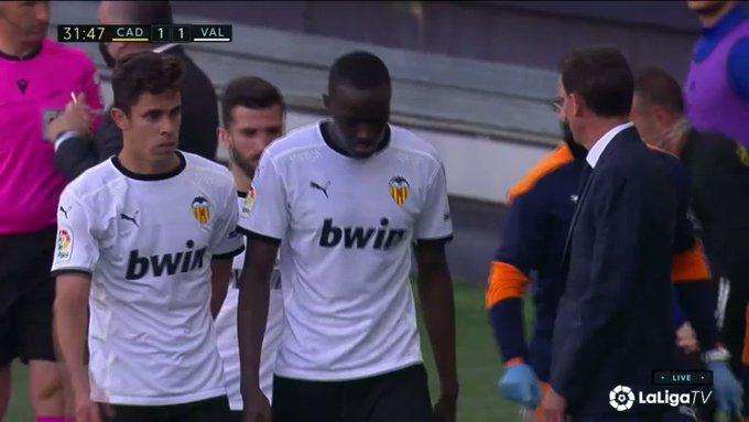 Cadiz v Valencia interrupted due to alleged racist incident