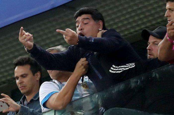 Russia 2018: Diego Maradona steals the show as Argentina slightly beats Nigeria
