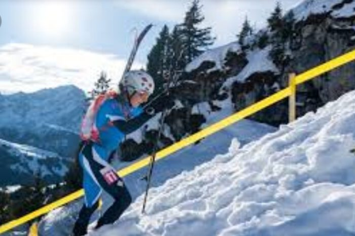 Host Nation Switzerland Wins First Ever Gold In Ski Mountaineering At The Winter Youth Olymlics.