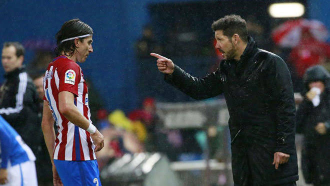 Simeone not the best at having relationship with players, says Filipe Luis