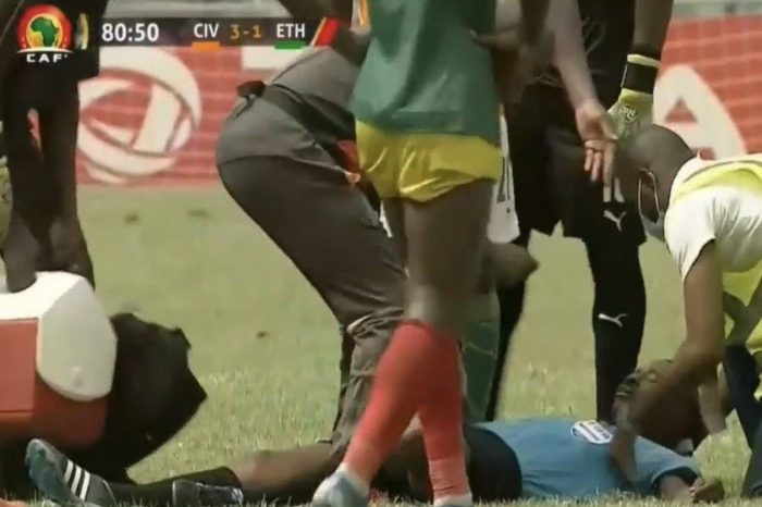 Ivory Coast VS Ethiopia 2021 AFCON Qualifiers ends abruptly with 11 minutes left to play as Ghanian referee collapses.